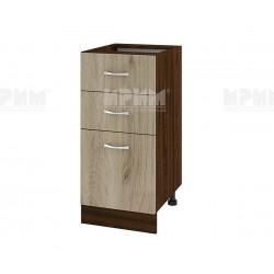 Долен кухненски шкаф Сити ВДА-27 с две чекмеджета и врата - 40 см. - сонома арвен/венге