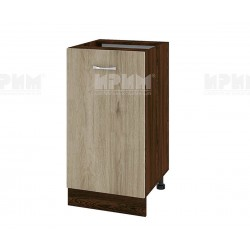 Долен кухненски шкаф Сити ВДА-28 с врата и рафт - 45 см. - сонома арвен/венге
