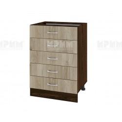Долен кухненски шкаф Сити ВДА-29 - 60 см. - сонома арвен/венге