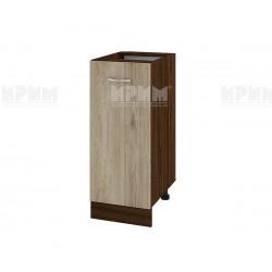 Долен кухненски шкаф Сити ВДА-40 с врата и рафт - 35 см. - сонома арвен/венге