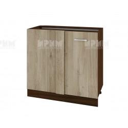 Долен кухненски шкаф за ъгъл с врата Сити ВДА-42 - 90 см. - сонома арвен/венге