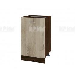 Долен кухненски шкаф Сити ВДА-43 с врата и рафт - 50 см. - сонома арвен/венге
