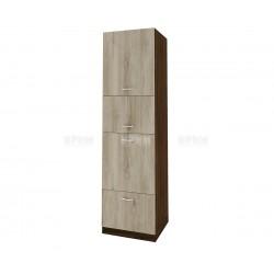 Колонен кухненски шкаф Сити ВДА-48 за фурна и микровълнова печка - 60 см. - сонома арвен/венге