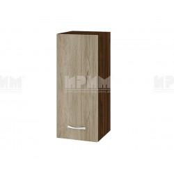 Горен кухненски шкаф Сити ВДА-1 с врата и рафт - 30 см. - сонома арвен/венге