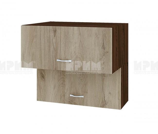 Горен кухненски шкаф Сити ВДА-107 с хоризонтални врати - 80 см. - сонома арвен/венге