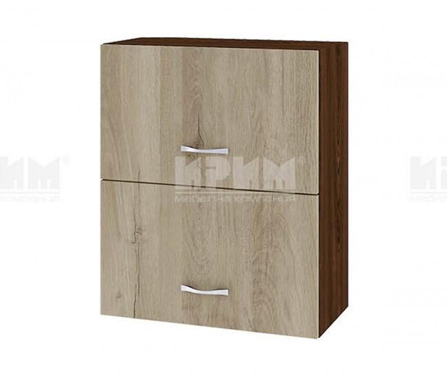 Горен кухненски шкаф Сити ВДА-11 с хоризонтални врати - 60 см. - сонома арвен/венге