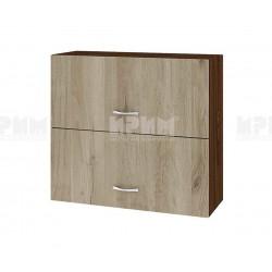 Горен кухненски шкаф Сити ВДА-12 с хоризонтални врати - 80 см. - сонома арвен/венге