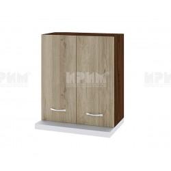 Горен кухненски шкаф Сити ВДА-13 за аспиратор - 60 см. - сонома арвен/венге