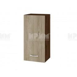 Горен кухненски шкаф Сити ВДА-16 с врата и рафт - 35 см. - сонома арвен/венге
