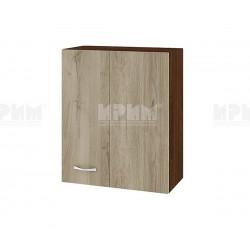 Горен кухненски шкаф Сити ВДА-17 с врата за ъгъл - 60 см. - сонома арвен/венге