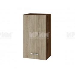 Горен кухненски шкаф Сити ВДА-2 с врата и рафт - 40 см. - сонома арвен/венге