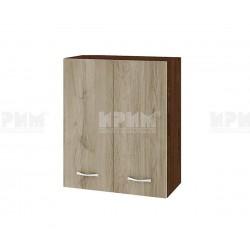 Горен кухненски шкаф Сити ВДА-3 с две врати - 60 см. - сонома арвен/венге