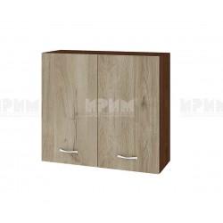 Горен кухненски шкаф Сити ВДА-4 с две врати - 80 см. - сонома арвен/венге
