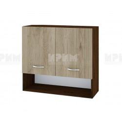 Горен кухненски шкаф Сити ВДА-8 с две врати - 80 см. - сонома арвен/венге