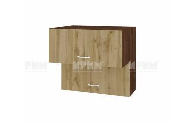 Горен кухненски шкаф Сити ВДД-107 с хоризонтални врати - 80 см.
