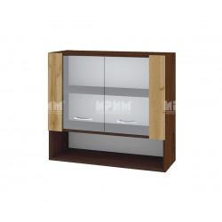Горен кухненски шкаф Сити ВДД-10 с витринни врати - 80 см.