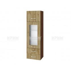Сити ВДД - 101 - горен шкаф с витрина, чекмеджета и повдигаща врата - 40 см.