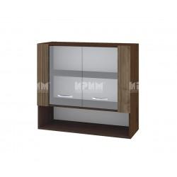 Горен кухненски шкаф Сити ВО-10 с витринни врати - 80 см.