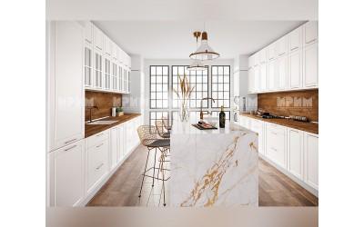 Готова кухня Сити 962 - МДФ Бяло мат - с цели термоплотове