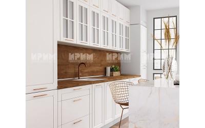 Готова кухня Сити 986 - МДФ Бяло мат - 440 см. - с цял термоплот