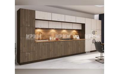 Готова кухня Сити 983 - Астра/Орех адмирал - 560 см. - с цял термоплот