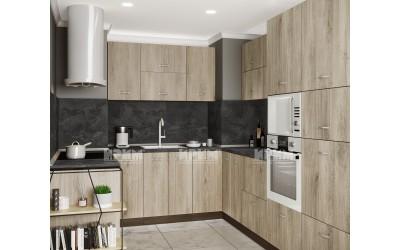 Готова кухня Сити 978 - Сонома арвен - с цели термоплотове