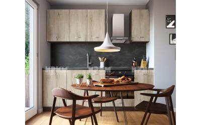 Готова кухня Сити 987 - Сонома арвен - 230 см. - с цял термоплот