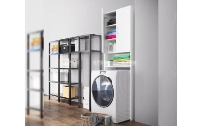 Шкаф за вграждане на пералня CITY 6258 - Бяло гладко