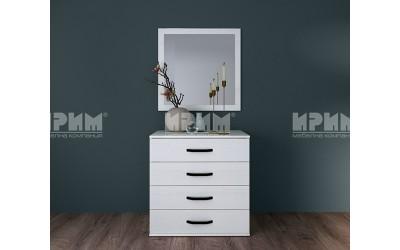 Скрин с огледало City 3065 - Бяло фладер