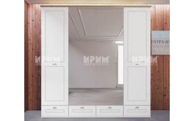 Четирикрилен гардероб Landscape - с огледала