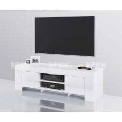 ТВ шкаф City 6249 - Бяло гланц/ Бяло гладко