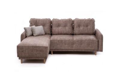 Ъглов диван Дженоа 1 - с функция сън, лежанка и ракли