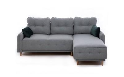 Ъглов диван Дженоа 2 - с функция сън, лежанка и ракли