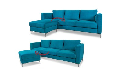 Комплект тройка диван и табуретка Киото