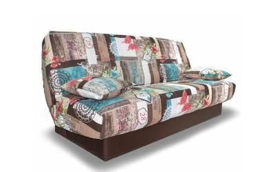 Холов триместен диван Никол с функция сън и ракла