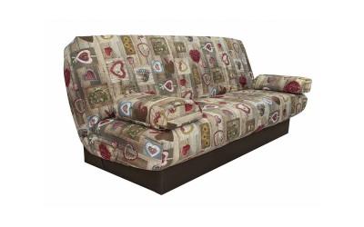 Холов триместен диван Ралф с функция сън и ракла