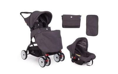 Комбинирана детска количка 2 в 1 Airy Dark Grey - тъмно сиво - Kikkaboo