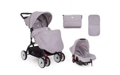 Комбинирана детска количка 2 в 1 Airy Light Grey - светло сиво - Kikkaboo