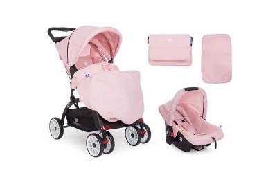 Комбинирана детска количка 2 в 1 Airy Pink - розово - Kikkaboo