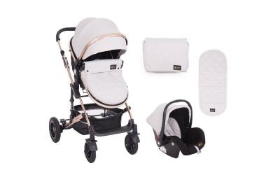 Комбинирана детска количка 3 в 1 с трансформираща седалка Amaia Light Grey - светло сиво - Kikkaboo