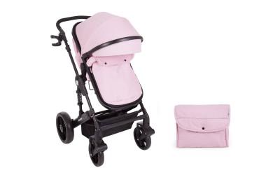 Комбинирана детска количка 2 в 1 с трансформираща седалка Darling Pink 2020 - розово - Kikkaboo