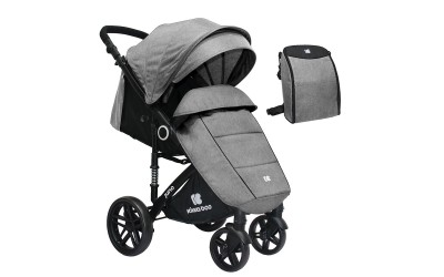 Бебешка лятна количка Juno Light Grey 2020 - светло сиво - Kikkaboo