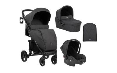 Комбинирана детска количка 3 в 1 Madrid Black Melange 2020 - черен меланж - Kikkaboo