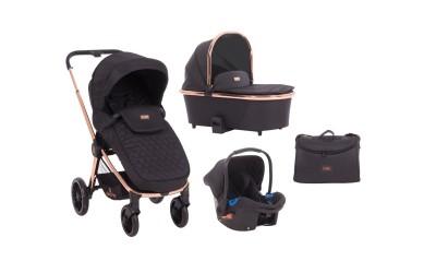Комбинирана детска количка 3 в 1 Vicenza Premium Black - черен - Kikkaboo