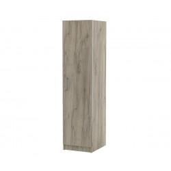 Еднокрилен гардероб Топ 1Б с рафтове - Дъб крафт Сиво