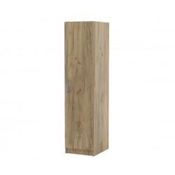 Еднокрилен гардероб Топ 1Б с рафтове - Дъб крафт Златен