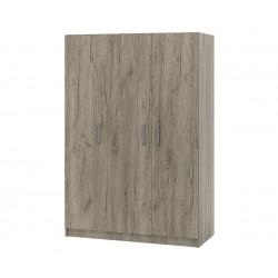 Трикрилен гардероб Топ 3 - Дъб крафт Сиво
