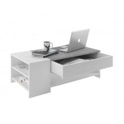 Холна маса Тиндус- бяло/бетон
