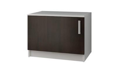 Долен кухненски шкаф Кети М10 Венге/Бяло за печка Раховец - 60 см.