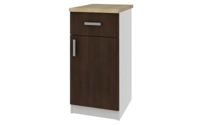 Долен кухненски шкаф Кети М20 Венге/Бяло с включен термоплот - 40 см.